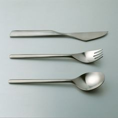 Tapio Wirkkala; Stainless steel Cutlery for Rosenthal, 1963.