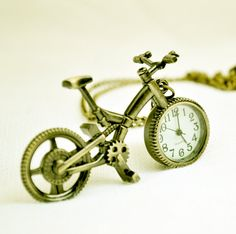Pocket Watch Charm  Antique Brass Bicycle  B039 by ministore, $3.95