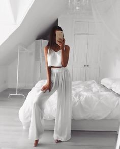 23 Stunning All White Party Outfits for Women – StayGlam - Page 2 Source by party outfit All White Party Outfits, Party Outfits For Women, All White Outfit, White Outfits For Women, Party Outfit Summer, Casual Party Outfits, Black Outfits, Cute Outfits For Parties, White Party Dresses