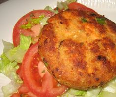 SALMON PATTIES... Easy, fast, economical and scrumptious!... *2 cans salmon, drained, deboned and skinned *2 cups old-fashioned oats *1 cup mashed potatoes (or cold leftover ones) *2 eggs, beaten *1 cup minced onions *1- 2 tsp lemon pepper *2 tsp Worcestershire sauce *2 tsp. lemon juice DIRECTIONS Mix all ingredients together. Fill 18 muffin tins with mixture. Bake in 325 degree oven for 45 minutes. Double recipe for more!!! Expect request for seconds!