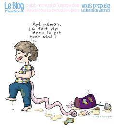 Le dessin du vendredi : Aujourd'hui, l'apprentissage de la propreté chez l'enfant, Tome 2. Suite à nos conseils concernant l'apprentissage de la pro