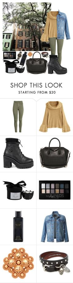 """Untitled #481"" by danielagreg ❤ liked on Polyvore featuring UNIF, Givenchy, D.L. & Co., Maybelline, Victoria's Secret, LE3NO, Alexander McQueen and Versace"