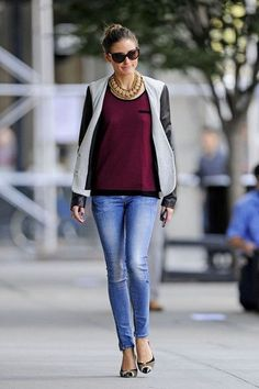 Olivia Palermo wearing Ann Taylor Round Frame Sunglasses,