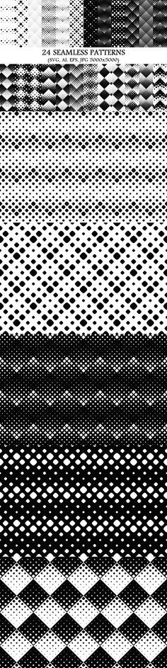 24 Seamless Square Patterns #backdrop #graphicdesign #graphics #monochrome #square #background #set #cheap #seamless #BackgroundDesign #diagonal #graphics #blackandwhite #pattern #background #design #BackgroundGraphics