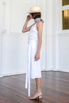 Zoé Wrap Skirt White