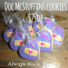 Always Made Yummy doc McStuffins cookies  bandaids