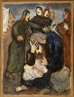 Jacob weeps over Joseph's tunic - Chagall Marc