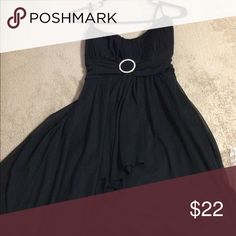 Pretty in Black Dress Junior Black dress worn once or twice for like 1 hour. Like new, great for formal events. In size large, fits 2 or 4 junior. Knee length Ruby Rox Dresses Midi