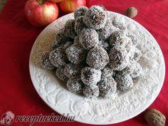 Zabpelyhes kókuszgolyó Delicious Desserts, Ale, Raspberry, Cereal, Cupcake, Cookies, Fruit, Breakfast, Food