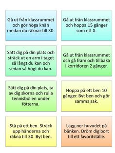 Rörelse del 1 – ett steg i taget – lärande steg för steg Attention Disorder, Learn Swedish, Adhd And Autism, Educational Activities For Kids, Back 2 School, Brain Breaks, Future Classroom, Classroom Management, School Supplies