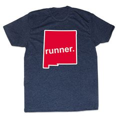 Mens Lifestyle Runners Tee New Mexico Runner - Show off your pride for New Mexico with this great New Mexico Runner State Tee.