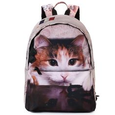 Bistar Galaxy Cute Cat Animal Backpack. Dimension:44cm X 30cm X16cm,polyester material. Compartment:Main zipper closure compartment can hold books, clothes, 15.6inch laptop or smaller laptop,and any other accessories;Front-exterior zippered pocket for small accessories. Amazing stichwork , great workmanship . 100% Checked before dispatch. Unique design straps ease the pressure on the shoulder. Projected arrive time: 7-15days.