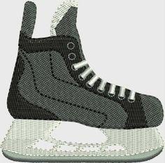 Hockey skate machine embroidery designs 4 by DBembroideryDesigns