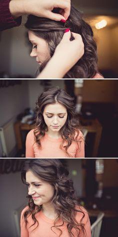 Bridesmaids hairstyle.