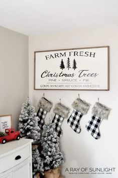 Wooden Christmas signs are super popular for the holidays! They are an easy way to bring Christmas into your home. Fresh Christmas Trees, Christmas Tree Painting, Christmas Tree Farm, Farmhouse Christmas Decor, Christmas Crafts, Christmas Decorations, Christmas Ideas, Christmas Store, Christmas Ornaments