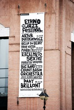 Beetroot -+ Ethnojazz Festival 2010 Count Basie, Jazz Festival, Typography, Lettering, Beetroot, Signage, Greece, Design, Letterpress