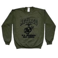 Decked Out Duds US Marines Sweatpant Crewneck Sweatshirt USMC Sweatsuit