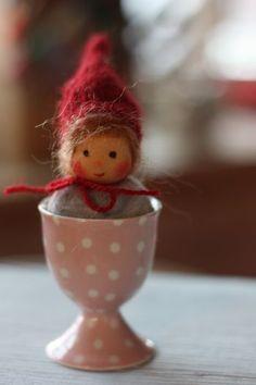 Wichtel, nur Ideen, schöner Blog Tiny Dolls, New Dolls, Soft Dolls, Fairy Figurines, Waldorf Toys, Felt Art, Fabric Dolls, Doll Face, Beautiful Dolls