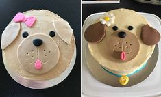 easy puppy dog cake for kids - Cake Decorating Simple Ideen Puppy Birthday Cakes, Puppy Birthday Parties, Diy Birthday Cake, Themed Birthday Cakes, Themed Cakes, Dog Bday Cake, Birthday Cakes For Kids, Puppy Party, 2nd Birthday