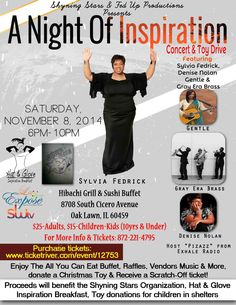 A Night Of Inspiration Saturday November 8, 2014 In Chicago, IL