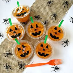 We Heart Parties: Blog Mandarin Orange Jack-o-lantern Cups
