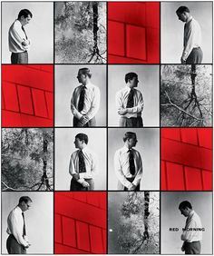 Gilbert & George RED MORNING DEATH 1977 Mixed media 241 x 201 cm <:((((><(