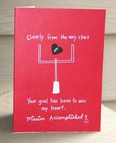 MVP Football- Valentine's Day Card. $3.25, via Etsy.
