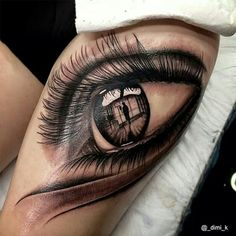 Beautiful eye tattoo