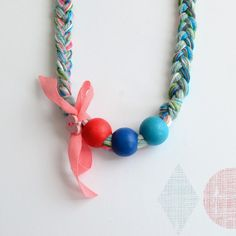 Bloesem Kids Necklaces & Bracelets ~ Handmade From Cashmere, Embroidery & Cotton Threads