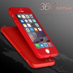 I6s 6 플러스 360 360도 전체 보호 케이스 iphone 5 5 s se/6 6 초 7 플러스 전화 가방 iphone 7 하드 pc 다시 커버