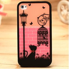 fashion cute birdcage Hard Cover Skin case for iPhone 4 4S+Free Screen Protect#1