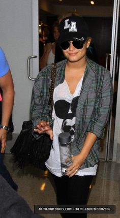 DEMI LOVATO with MCFADIN FRINGE Bag