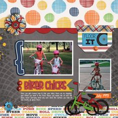 Biker chicks - Scrapbook.com