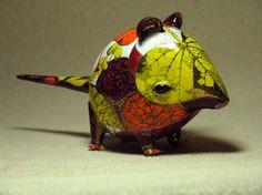 Ceramic creature by Anya Stasenko and Slava Leontiev