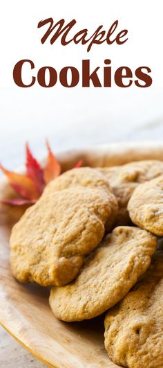 Maple Cookies ~ Soft and chewy cookies with maple syrup and walnuts! Maple Syrup Cookies, Walnut Cookies, Cookies Soft, Yummy Cookies, Maple Syrup Cake, Cookie Desserts, Just Desserts, Cookie Recipes, Delicious Desserts