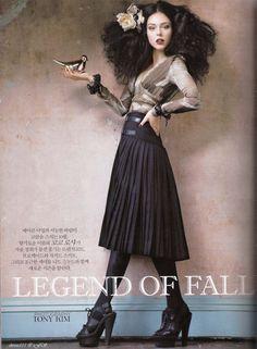 """Vogue Korea - """"Legend of Fall"""" Model: Coco Rocha. October 2009."""