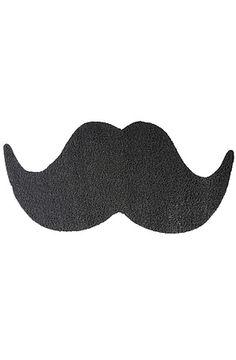 The Mat the Mustache Doormat by Mustard