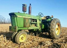 JOHN DEERE 4020 Jd Tractors, John Deere Tractors, John Deere Equipment, Mean Green, Farm Boys, Rubber Tires, Old Trucks, Agriculture, Vehicles