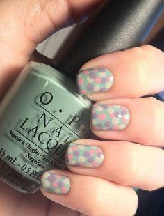 My Polka Dotted nails :) loving my dotting tools
