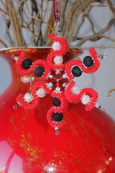 Handmade Felted wool & beaded christmas xmas by Angelab5705, £9.99