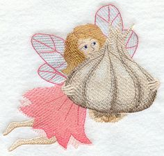 Fairy Carrie w/Garlic design (B1253) from www.Emblibrary.com
