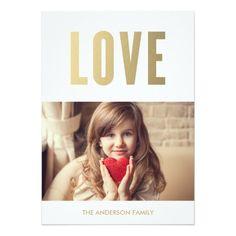 Love | Valentine's Day Photo Card Custom Announcement