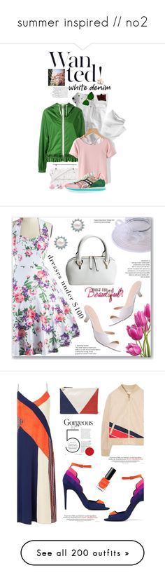 """""""summer inspired // no2"""" by cecilialukas ❤ liked on Polyvore featuring FAY, M2Malletier, Etro, Børn, whitejeans, vintage, Diane Von Furstenberg, Tory Burch, Pierre Hardy and Clare V."""