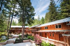 The Brew Creek Centre near Whistler, BC. 24 units that sleep 4 people in each.