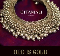 Indian Jewellery and Clothing: Antique gold bridal necklace from Gitanjali Jewels..
