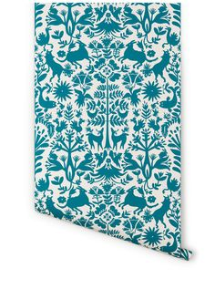 Is this the perfect wallpaper?! Only time will tell...Designed by Emily Isabella for Hygge & West- Otomi (Turquoise)
