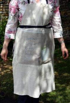 I like this gardening apron - from my old bookmarks, I am unsure of the source