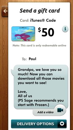 Gyft gift card app: for last minute Father's Day gifts