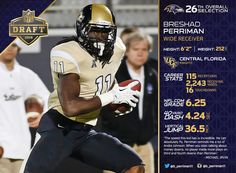 With the 26th pick in the 2015 #NFLDraft, the Ravens select WR Breshad Perriman.
