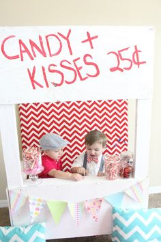 Kissing booth. Have Hershey kisses.